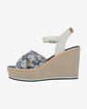 U.S. Polo Assn Rosy Flowers Wedges
