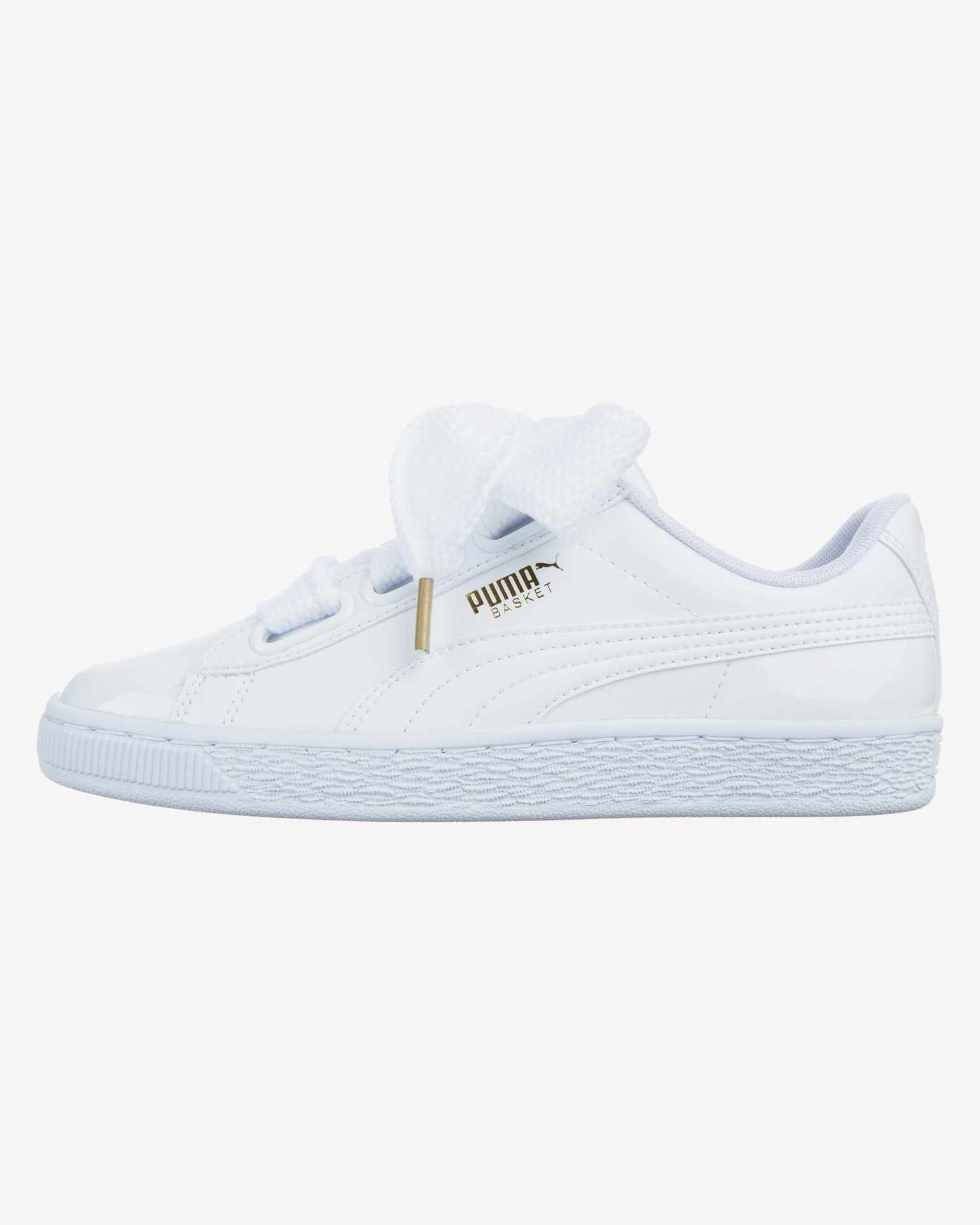 puma basket heart w white