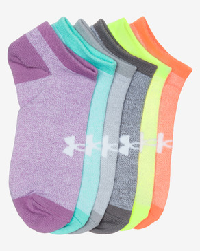 Under Armour Solid No Show Set de 6 perechi de șosete