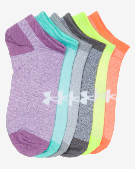 Under Armour Solid No Show 6-pack Čarape