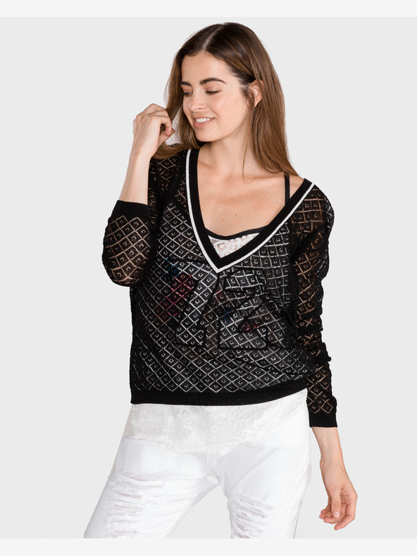 TWINSET Sweater Black White