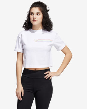 adidas Originals Pride Linear Cropped Triko