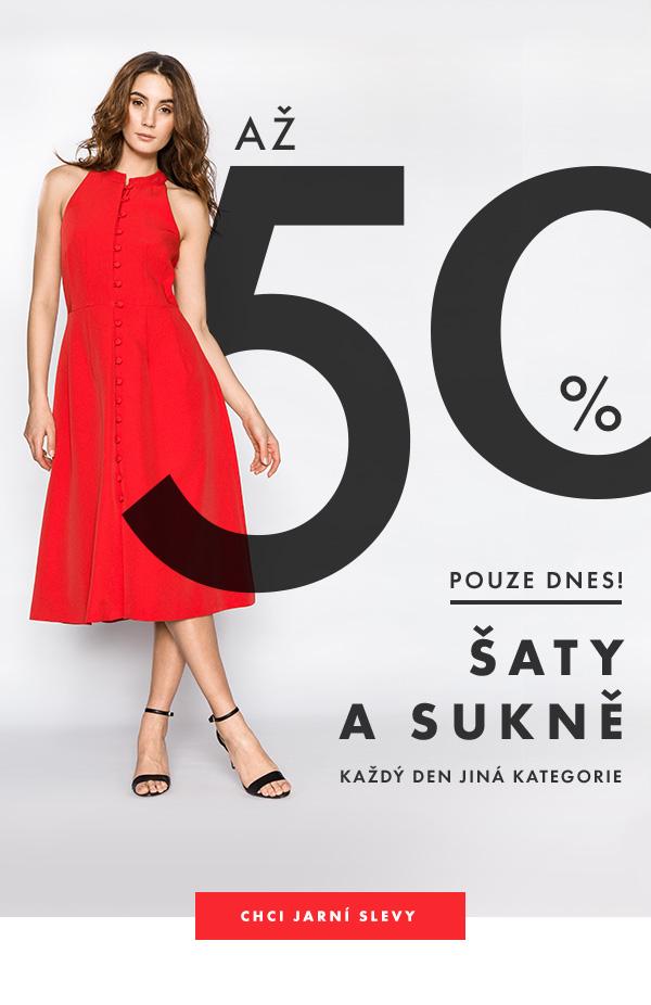 Šaty a sukně se slevou až -50%